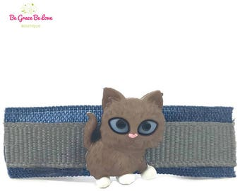 Kitty Cat Barrette, Cat Ears, Cat Ears Headband, Kitty Cat Hair Clip, Hello Kitty, Black Cat, Cat Lover Gift, Grumpy Cat, Hair Clip, Bow