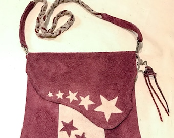 Star Struck Suede Leather side pouch bag