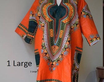 African Cotton Print Unisex Top