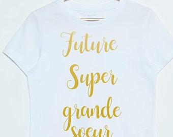future big sister pregnancy announcement t-shirt
