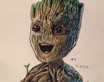 Original Baby Groot Drawing