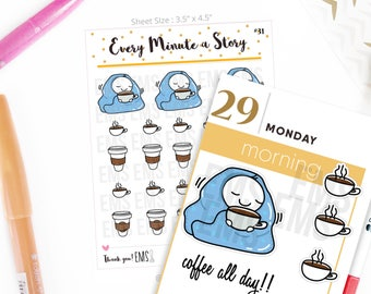 hot drinks Coffee mocha planner Stickers, chocolate cafe lattes, winter For Erin Condren, Plum Paper, Happy, Mambi, or Inkwell Press S31