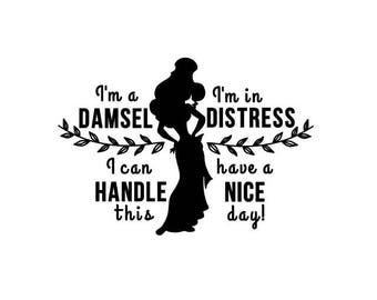 Disney - Megara - Hercules Damsel in distress I can handle this - Quote Decal - Car, IPad, Laptop, Phone Decal