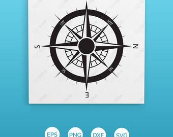 Holiday Sale! Compass Rose SVG Collection - Compass DXF - Compass Clipart - Files for Silhouette Cameo or Cricut Count LB334