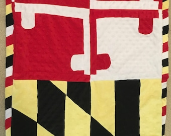 Maryland Flag Baby Blanket