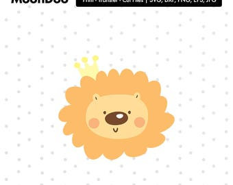 lion svg, cute lion Clipart Svg Files For Silhouette , Svg For Cricut, Cut Files Vinyl Decal Iron On Transfer Kawaii Svg Kids Animal
