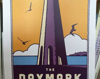 The Daymark in Dartmouth print poster A4
