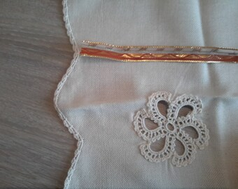 Ribbon organza and golden brown 1.5 cm wide