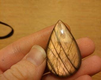 Custom Wire Wrapped Peach Labradorite