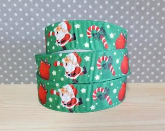 1 meter of Ribbon Christmas grosgrain Ribbon