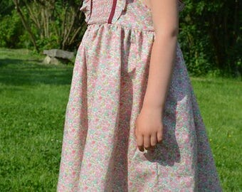 Dress liberty betsy ann pink smocking