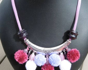 Necklace colorful medley of tassels