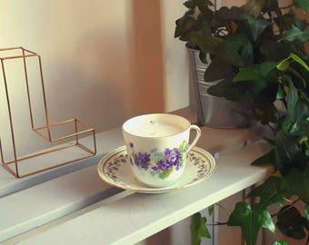 Vintage Tea Cup Candle