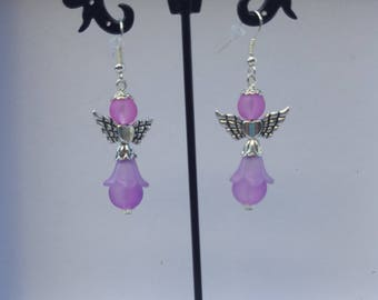 """Angels"" Purple earrings"