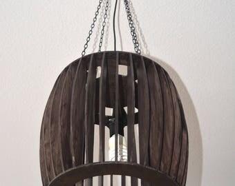 Whiskey barrel lamp Used-look