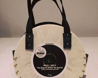 """7"""" White and Elvis Rockin' Record Bag"""