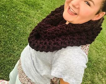 Chandler Crochet Scarf (Purple)