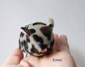 PRETTY mouse faux leopard print fur