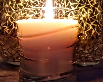 Reset Candle in Swirl Glass
