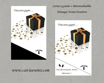 Scratch - customizable - Message card all occasions - model Lucy