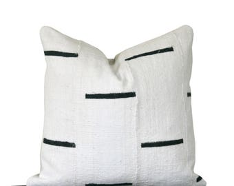 Mudcloth Pillow Cover, Authentic Mali Mudcloth, Bogolanfini