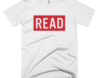 READ Unisex Tee - book lover gift - graphic tee - book nerd - soft t-shirt -triblend - quote t-shirt