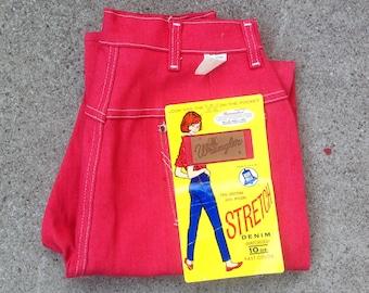 DEADSTOCK vtg 50s 60s Wrangler Blue Bell high-waisted red jeans / sanforized / Blue Bell / 1950s / 1960s / 26 x 29