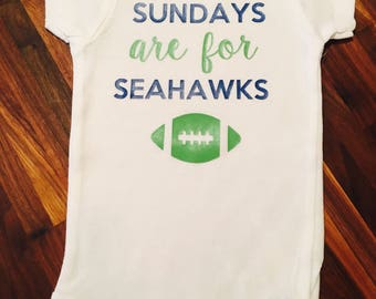 Sundays are for Seahawks baby onesie
