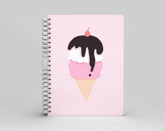 Ice Cream Dream : A5 Spiral Notebook (two color)