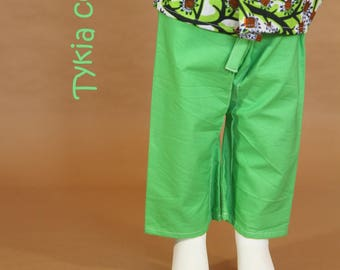 Green Siam reverse Ankara pants - custom