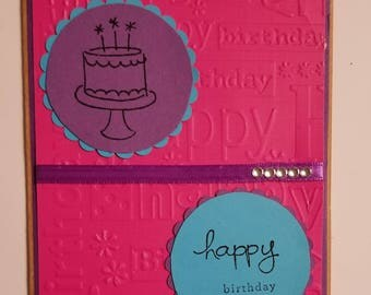 Bright birthday card, happy birthday, great for teens, birthday card for neice, birthday card for sister, birthday card for grandaughter