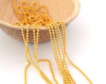 Chain 1 mm brass beads