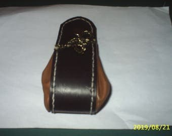 Purse boots, genuine cowhide leather