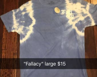 "Street wear: ""Fallacy"" hand dyed t-shirt"