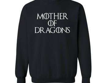 Game of Thrones Sweatshirt. Mother of Dragons Sweater. Mother of Dragons Sweatshirt. Game of Thrones Jumper. S - 3XL. 10 colors.