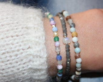 Bracelet agate and Silver 925/1000