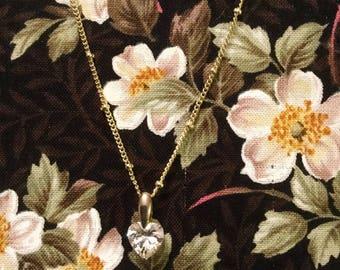 Cubic Zirconia Heart Necklace