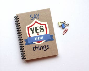 Spiral Notebook Handmade Cover Motivation Notepad Recycled Paper Eco Friendly Sketchbook Blank Journal