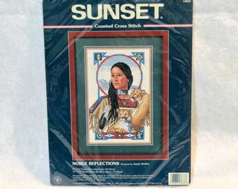 "Sunset Counted Cross Stitch ""Noble Reflections"" Kit 