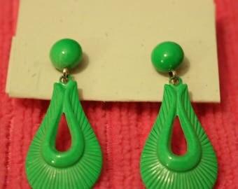 Lucite Clip On Earrings