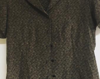 80's vintage silk blouse