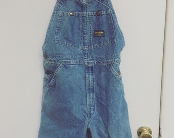 Vintage early 90's overalls, shorts