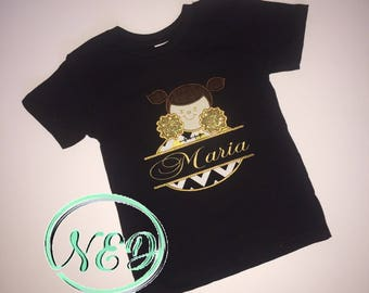 New Orleans Saints Cheerleader Applique Shirt
