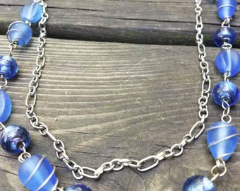 Cobalt blue and chain