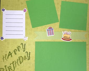 Birthday Premade Scrapbook Page