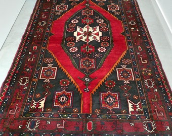Nomad Maslagan oriental Persian rug - 7.2 x 4.6 / 220 x 140 cm - hand knotted