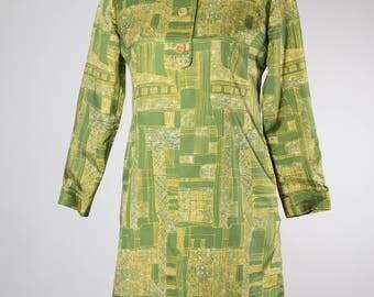 Green 60s Dress Lovely Pattern