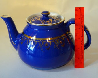 Hall Teapot Cobalt Blue 6 cup Excellent Condition