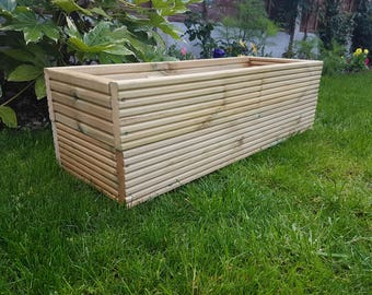 Wooden Garden Planter - Handmade from Treated Decking Boards