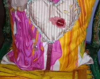 Indian Lavender Heart Cushion